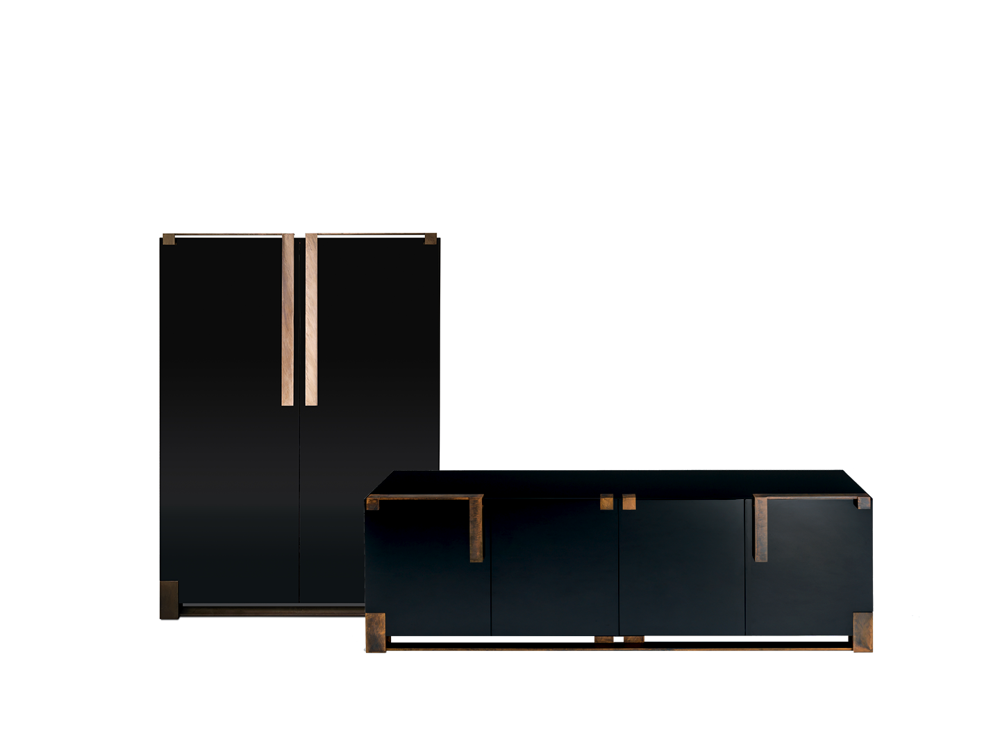 Black and Gold cabinets
